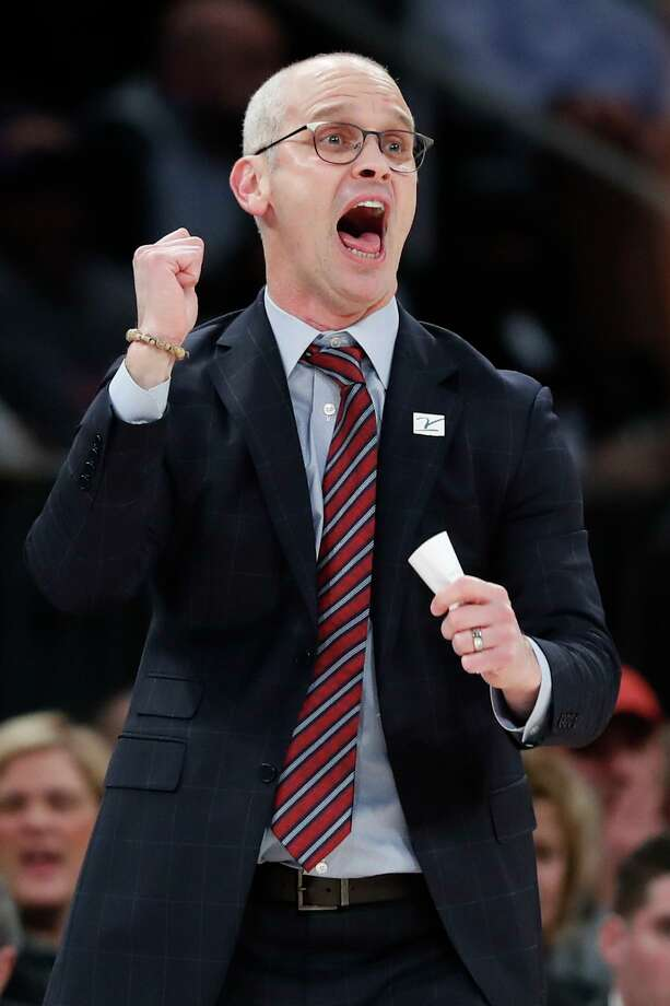 Coach Dan Hurley and the UConn men's basketball team will host Saint Peter's on Wednesday. Photo: Kathy Willens / Associated Press / Copyright 2019 The Associated Press. All rights reserved.