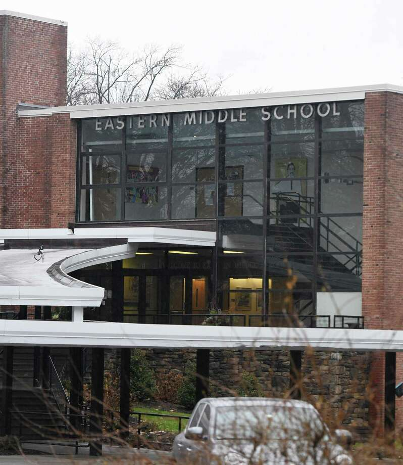 Eastern Middle School in the Riverside section of Greenwich, Conn., photographed on Tuesday, Dec. 10, 2019. Photo: Tyler Sizemore / Hearst Connecticut Media / Greenwich Time