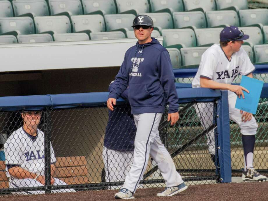 New Haven's Tucker Frawley, in his seventh season as Yale's associate head baseball coach. Photo: Yale University Athletics / Greenwich Time Contributed