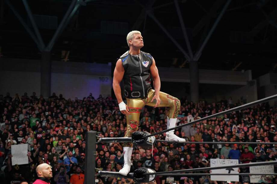 """Cody Rhodes poses before a match last week in Garland. Rhodes, along with others, started All Elite Wrestling in order to give fans """"a long-form, disciplined product."""" Photo: Lee South / All Elite Wrestling / © 2019 Warner Media LLC. All Rights Reserved"""