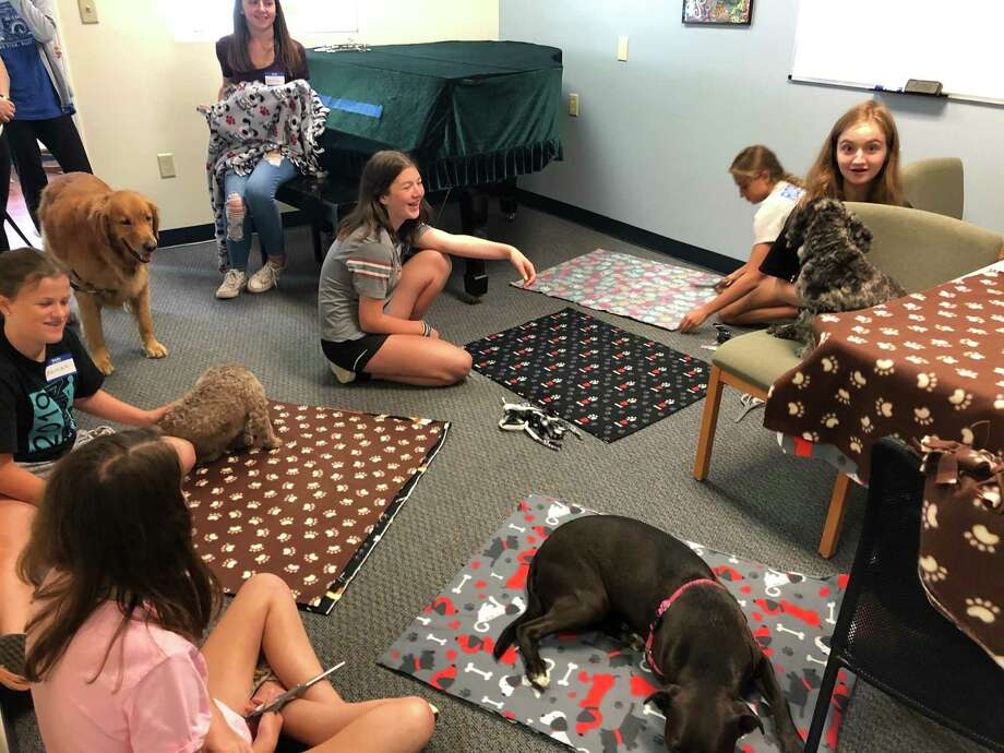 Kids, ages 8-14 andAATS staff will be sharing their therapy dogs and small animals with Carriage Green residents. Photo: Contributed Photo