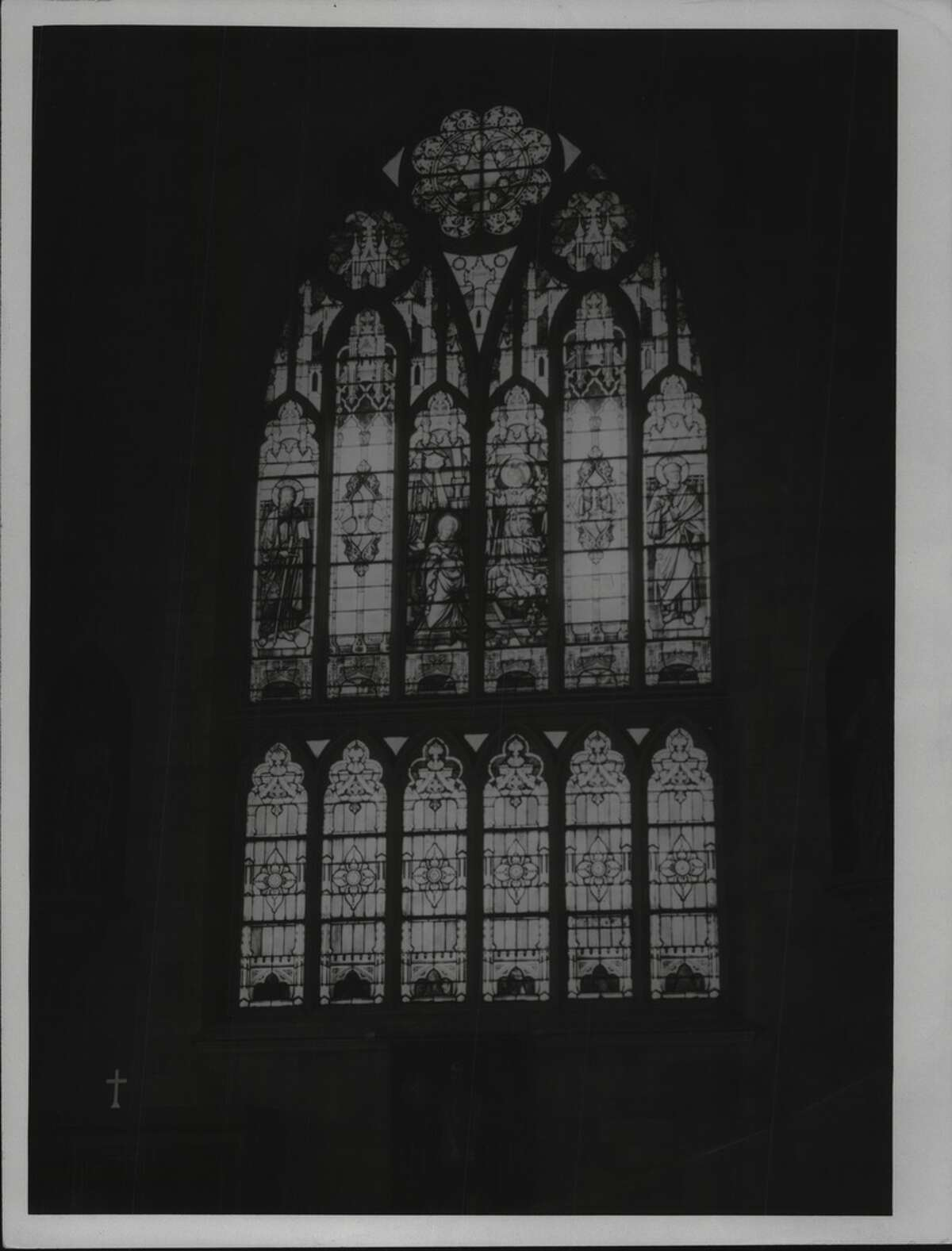 Stained Glass at St. John's Catholic Church, Albany, New York. May 13, 1937 (Times Union Archive)