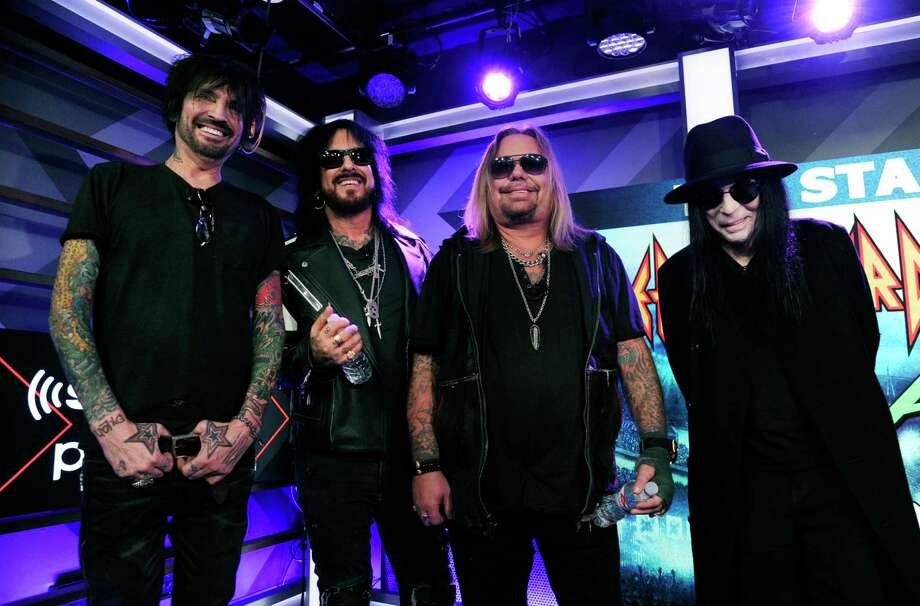 Tommy Lee, Nikki Sixx, Vince Neil and Mick Mars of Motley Crue announced The Stadium Tour 2020 earlier this month. Photo: Chris Pizzello /Associated Press / 2019 Invision