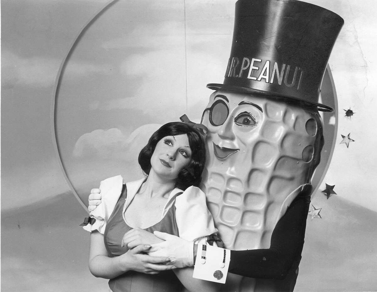 Snow White and Mr. Peanut in Beach Blanket Babylon Goes to the Stars Photo ran 06/25/1978, P. 1 Sunday Datebook Handout photo
