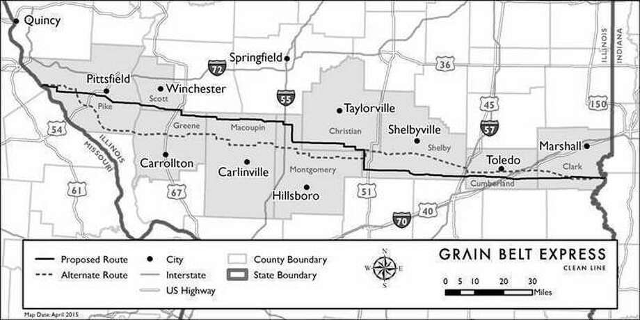 A Missouri appeals court on Tuesday gave approval to the state's portion of the $2.3 billion Grain Belt Express Transmission high voltage line — which locally would pass through the northern edge of Greene and Macoupin counties — carrying electricity generated by Kansas windmills 780 miles before hooking into a power grid in Indiana.