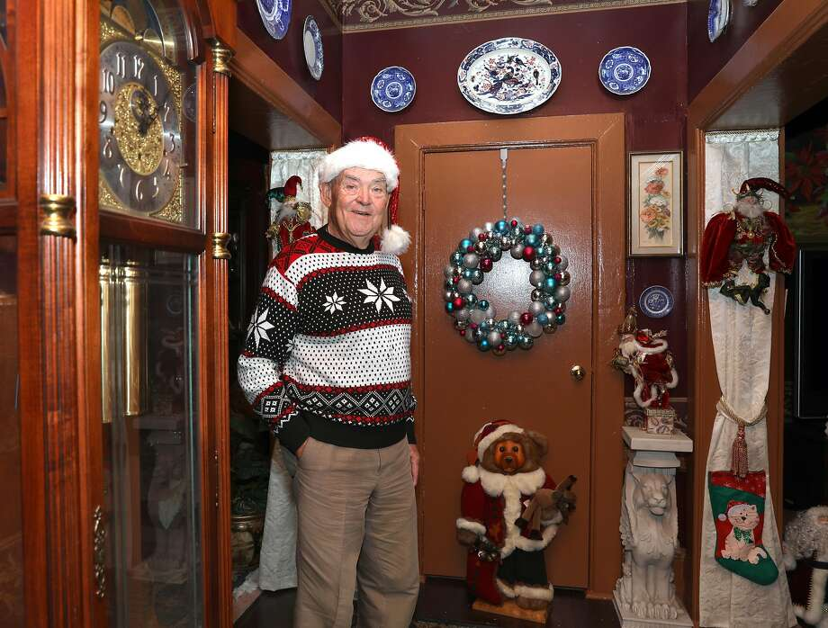 Famous drag queen Marlena, also known as Gary McLain, shows her home with Christmas decorations in Hayes Valley. Photo: Liz Hafalia / The Chronicle