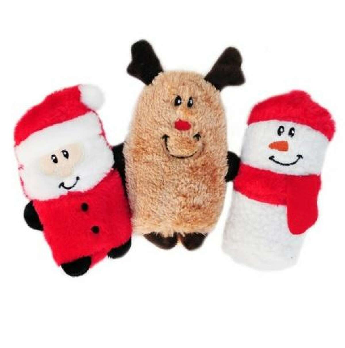 Holiday Squeakie Buddies Set of 3 from All The Best Pet Care: $17.99