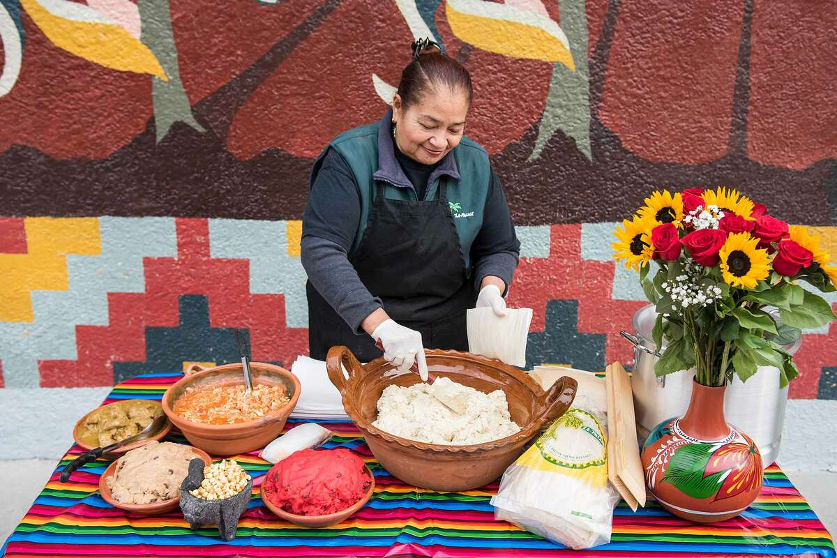 La Palma Mexicatessen has been a permanent fixture in the Mission District since 1953. For the last 10 years, Teresa Rodriguez has been the driving force behind the handmade tamales she makes during the Christmas holiday season.