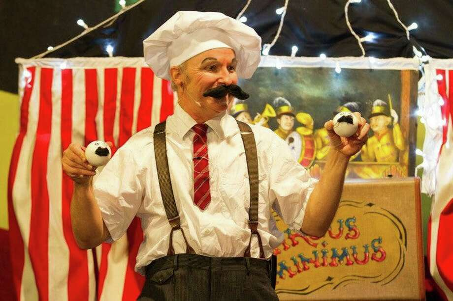 "The Ferguson Library in Stamford is hosting ""Circus Minimus: One-Man Circus in-a-Suitcase"" Dec. 28. Photo: Ferguson Library"
