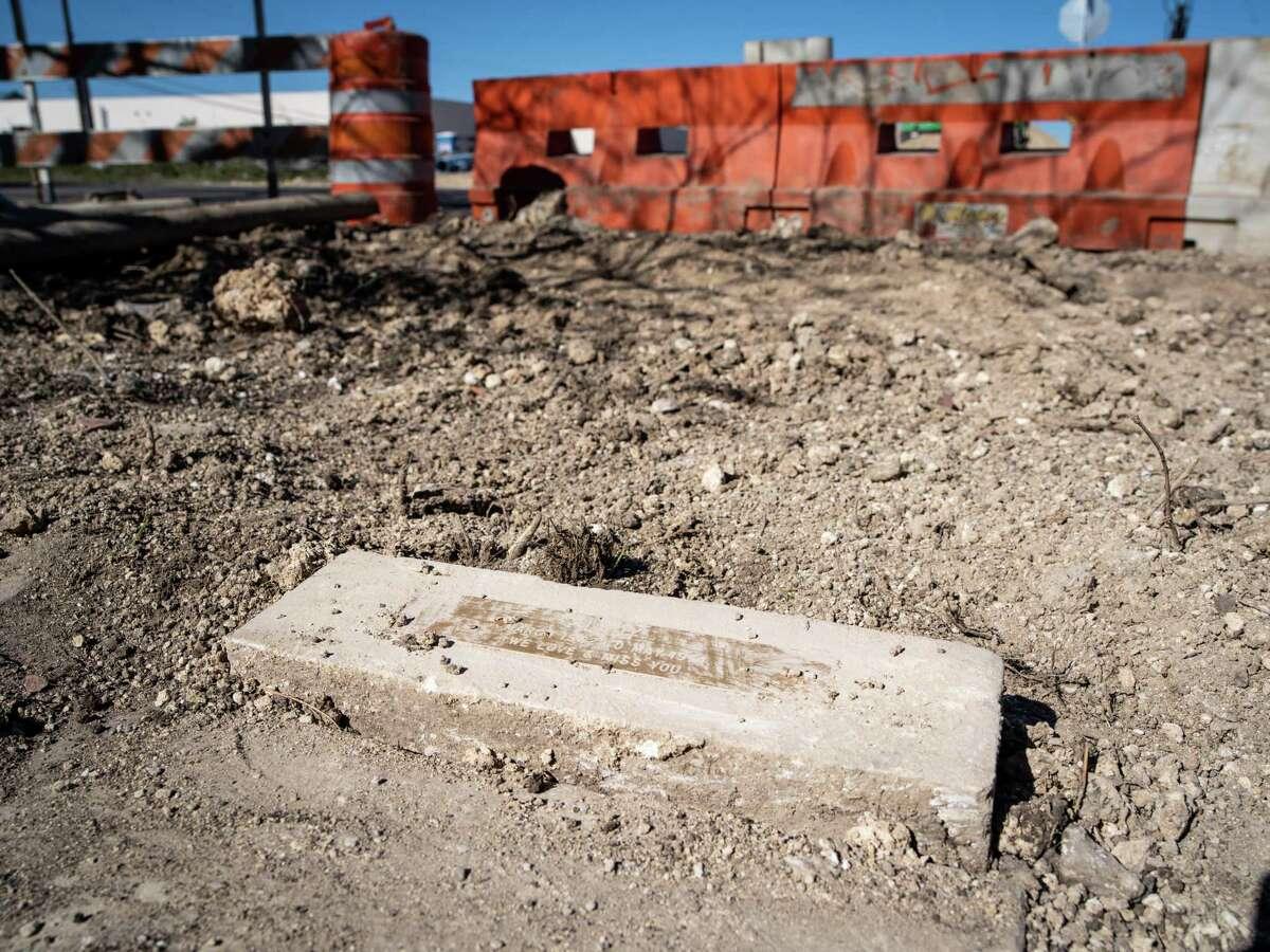 Construction has disturbed the Oak Hollow Pet Memorial Park in San Antonio, Texas on Friday, December 6, 2019.