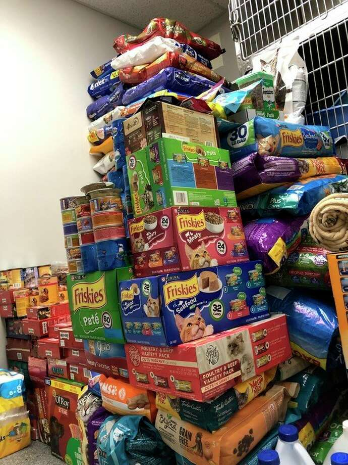 The Benzie County Animal Shelter and the Animal Welfare League of Benzie County is grateful to the public for the donations of dog and cat food collected during the winter pet food drive. (Courtesy Photo)