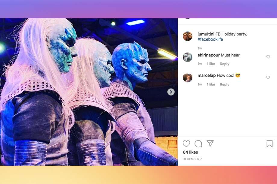 "Facebook employees were treated to a two-day holiday party with a ""Game of Thrones"" theme at San Francisco's Pier 80 in the Dogpatch neighborhood this December. Photo: Instagram / Jumultini"