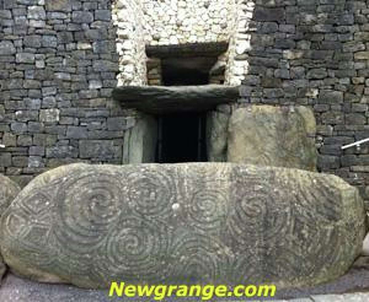 The entrance to the passageway at the 5,200-year-old Newgrange ancient temple.