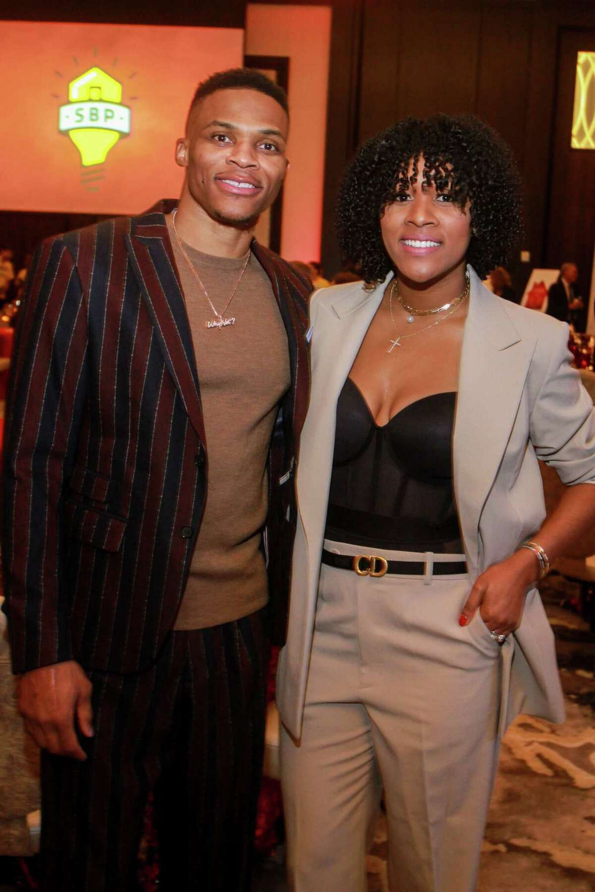 Russell and Nina Westbrook at the second annual