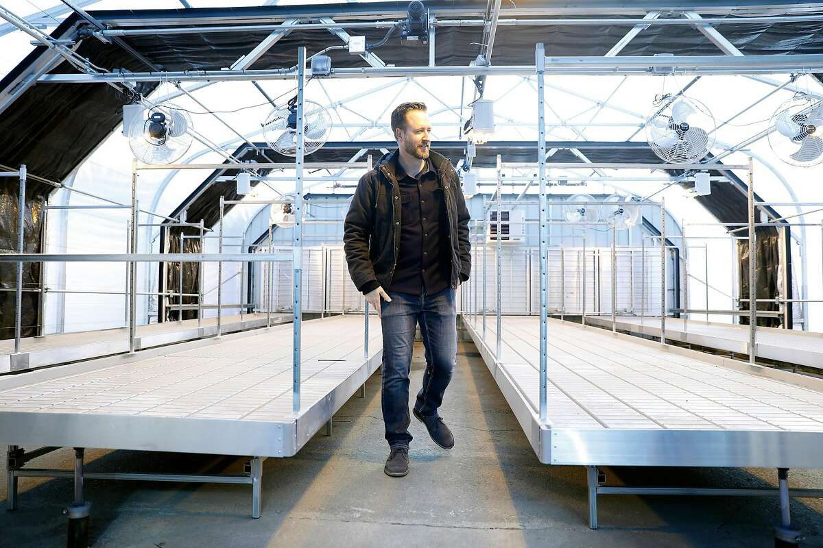 John Oram, Bloom Innovations CEO, at soon to be occupied greenhouses in Oakland, Calif., on Monday, December 16, 2019.