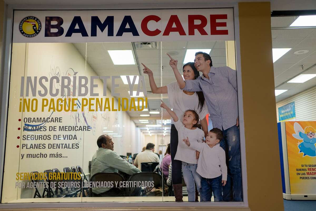 FILE -- A storefront of Sunshine Health and Life Advisors, a Florida insurance enrollment company, in Miami on Nov. 16, 2016. A federal appeals court on Wednesday, Dec. 18, 2019, struck down a linchpin of the Affordable Care Act, ruling that the requirement that people have health insurance was unconstitutional. (Angel Valentin/The New York Times)