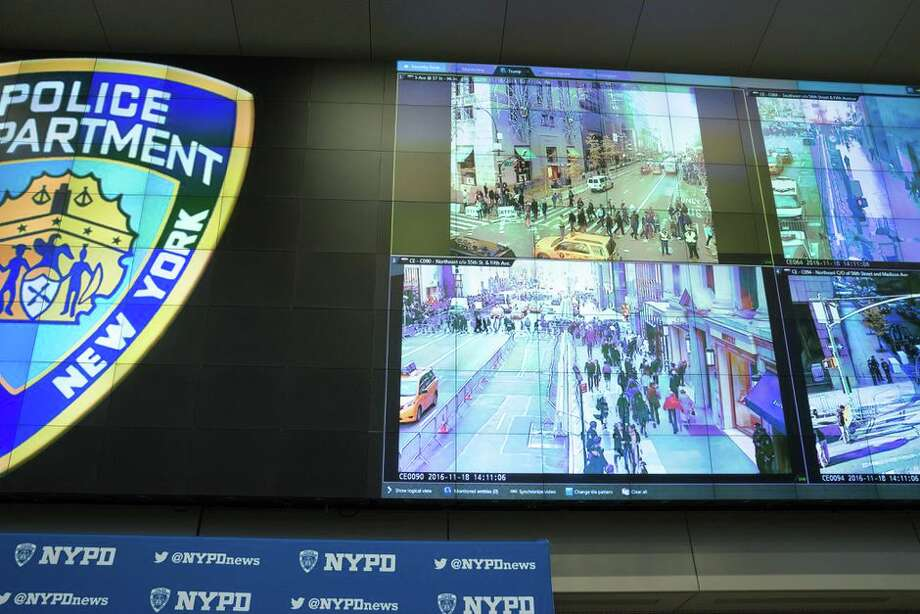 The NYPD's Joint Operations Center showing its video surveillance tools in 2016. Photo: Albin Lohr-Jones/Pacific Press/LightRocket Via Getty Images