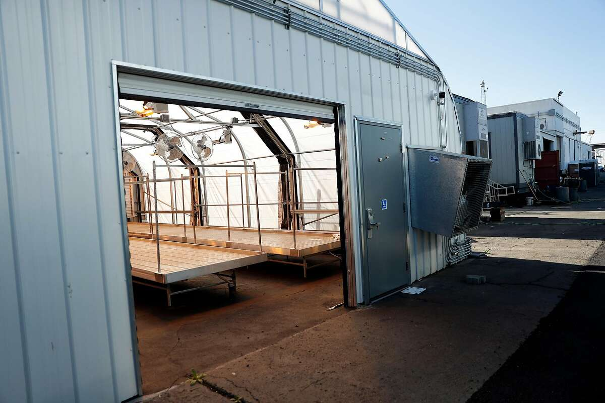 Soon to be occupied greenhouses at Bloom Innovations in Oakland, Calif., on Monday, December 16, 2019.