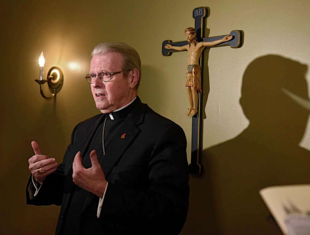 Albany Roman Catholic Diocese Bishop Edward Scharfenberger would not publicly deny the Eucharist to politicians for their views on abortion, the diocese spokeswoman said the day after the bishop attended a virtual meeting in which that topic was discussed at length.