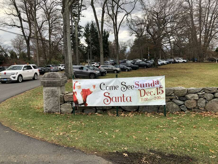 The New Canaan Nature Center holds its Winter Wonderland event on Sunday, Dec. 15, 2019, where at least one vehicle that had plush antlers, and a soft red nose like Rudolf the Red-Nosed Reindeer drives out of. Photo: Contributed Photo