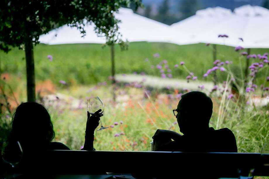 Flowers Vineyards opened its Healdsburg tasting room last summer, and already had outdoor, semi-private cabanas, which are ideal for social distancing. Photo: John Storey / Special To The Chronicle 2019