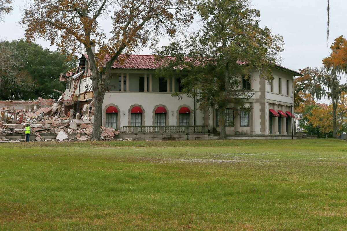 The West Mansion, shown before its demolition just before Thanksgiving.