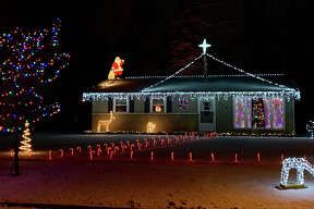 Christmas decorations from around Midland, Bullock Creek, Sanford, and Freeland.