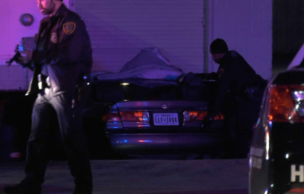 Police converged on the suspect as he exited the store and chased him for a few miles until he crashed into a loading dock at a nearby grocery store.