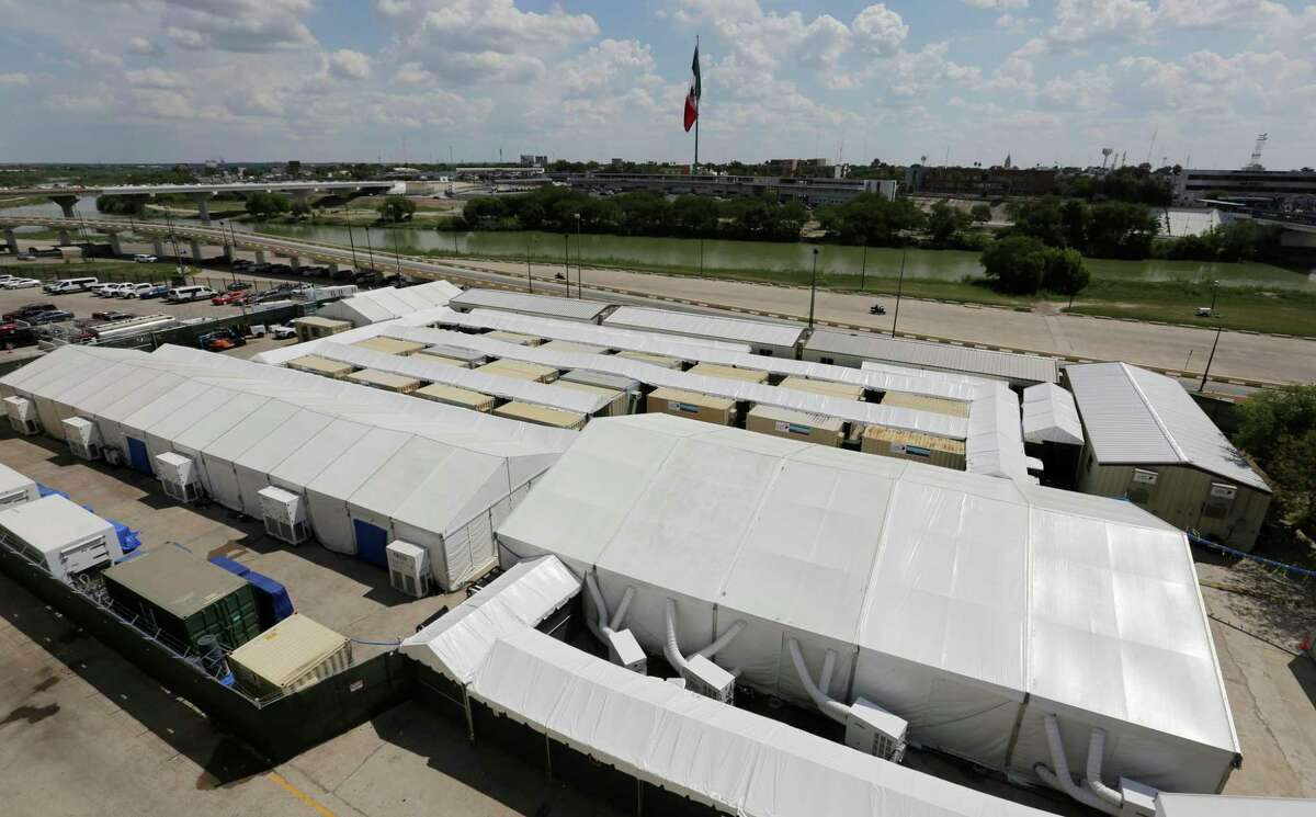 Pictured in 2019 is the Migration Protection Protocols Immigration Hearing Facility, a tent court facility along the Rio Grande in Laredo. A new tent facility may be built locally at the fairgrounds in efforts to hold migrant families which cross the border illegally.