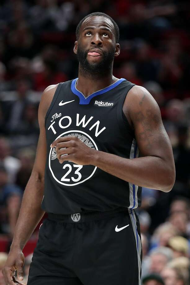 Draymond Green #23 of the Golden State Warriors reacts in the first quarter against the Portland Trail Blazers during their game at Moda Center on December 18, 2019 in Portland, Oregon. Photo: Abbie Parr, Getty Images