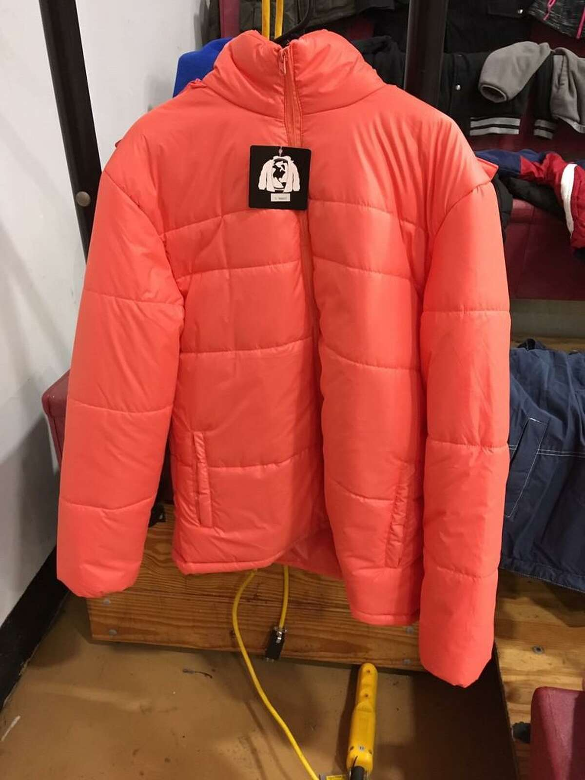 One of the many coats to be given away on Saturday
