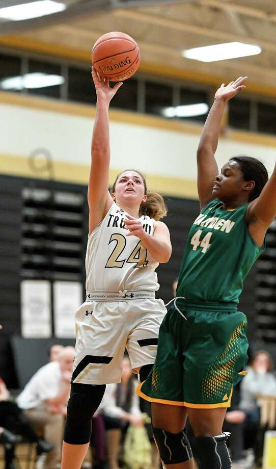 Cassie Barbato led four players scoring in double figures as Trumbull won the Tip-Off tourney title. Photo: David G Whitham / For Hearst Connecticut Media / DGWPhotography