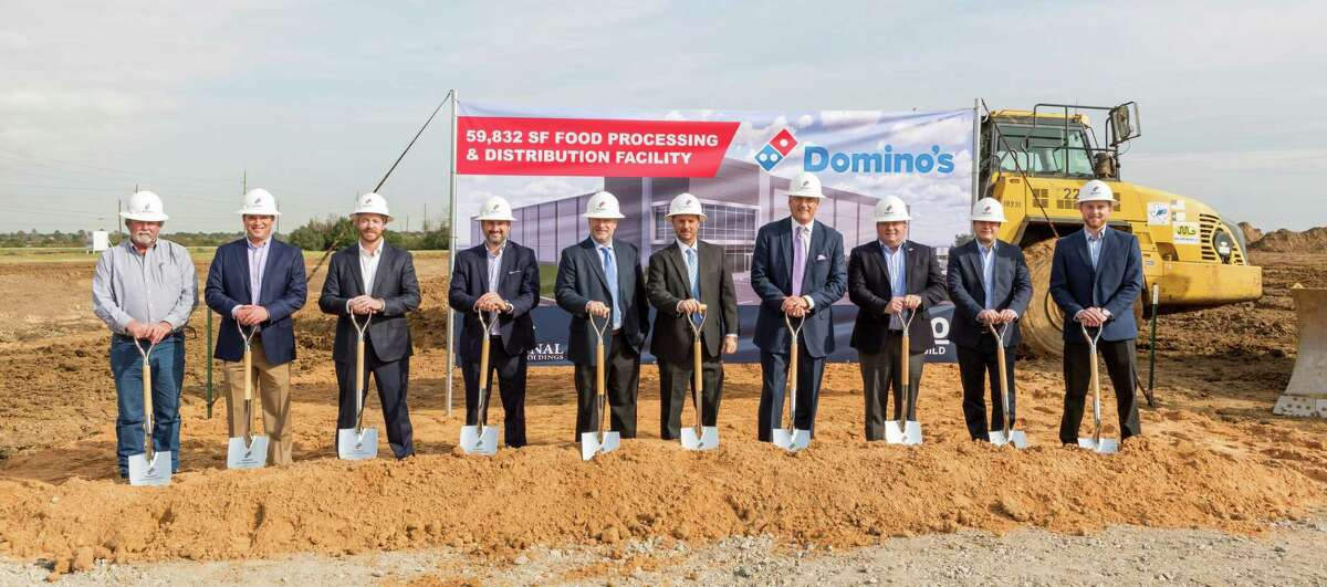 Domino's officially broke ground on its supply chain center at 900 Igloo Road in Katy on Thursday, Dec. 12. Representatives and leadership from Domino's, ARCO Design/Build and National Property Holdings participated in the ceremony.
