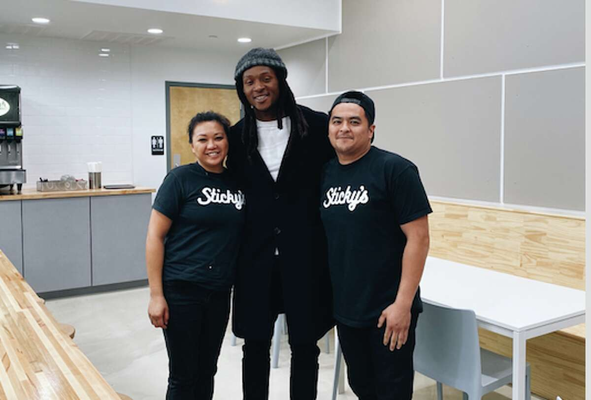 DeAndre Hopkins dines at Sticky's Chicken at Sawyer Yards on Dec. 18, 2019.