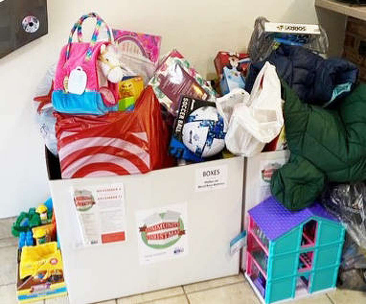 A Community Christmas collection box at Freer Auto Body. The campaign concluded last week with donation boxes from nearly 60 businesses, churches and schools and items for distribution to 15 local nonprofit agencies.