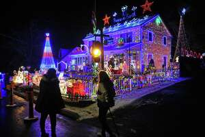 Wonderland at Roseville, a spectacular Christmas display now in its 20th year, lights up the whole block on Roseville Terrace in Fairfield, Conn., on Wednesday Dec. 18, 2019.