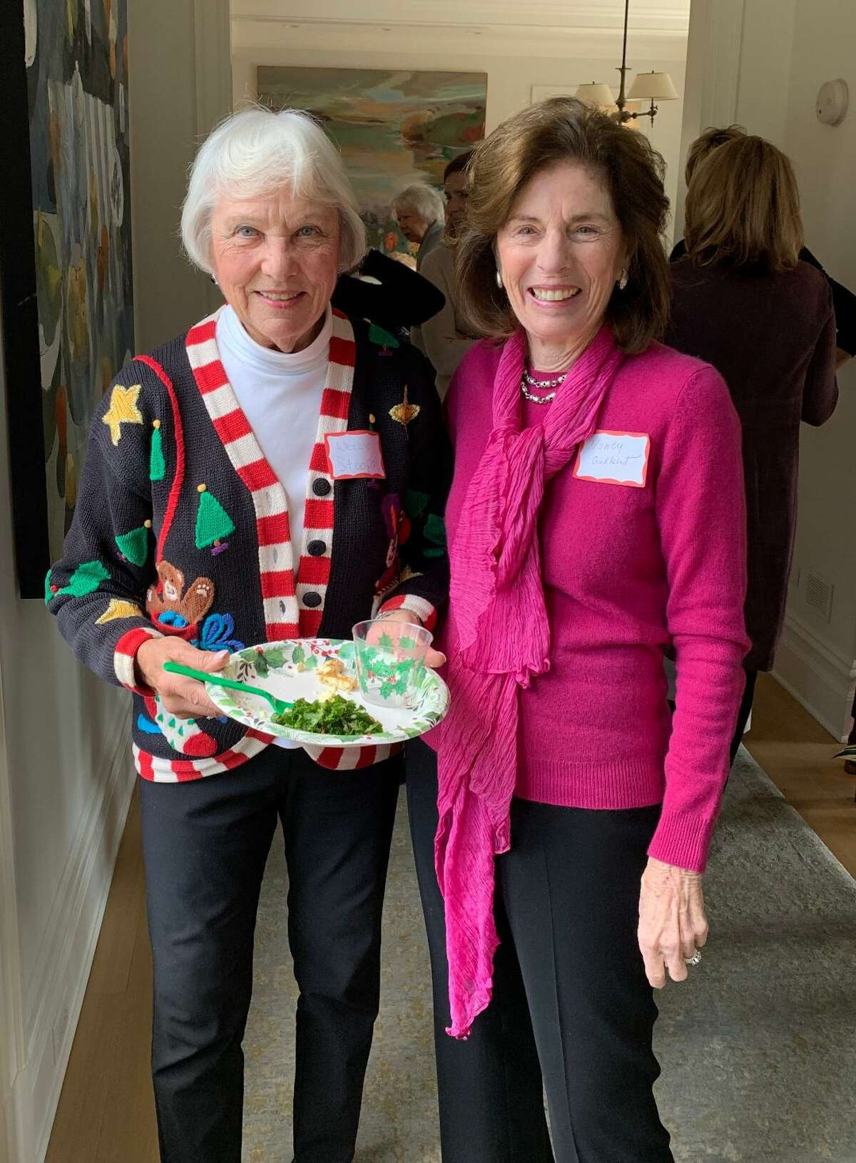 Louise Stoops and Nancy Gilbert at the Congregational Church of New Canaan's Women's Fellowship Luncheon.