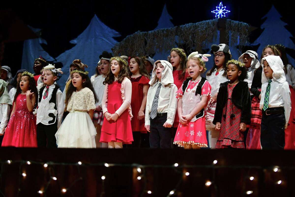 """All Saints Catholic School holds its annual Christmas concert, """"Halleujah,"""" Thursday, December 19, 2019, at the school in Norwalk, Conn."""