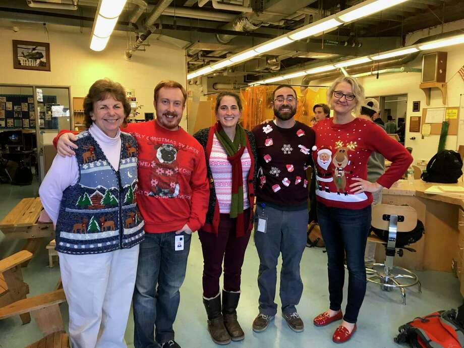 Darien High School Technology and Engineering Department Lorraine Westervelt, left, Richard Reynolds, Department Coordinator, Ashley O'Connor, Greg Darin, and Claudia Gray Photo: Contributed