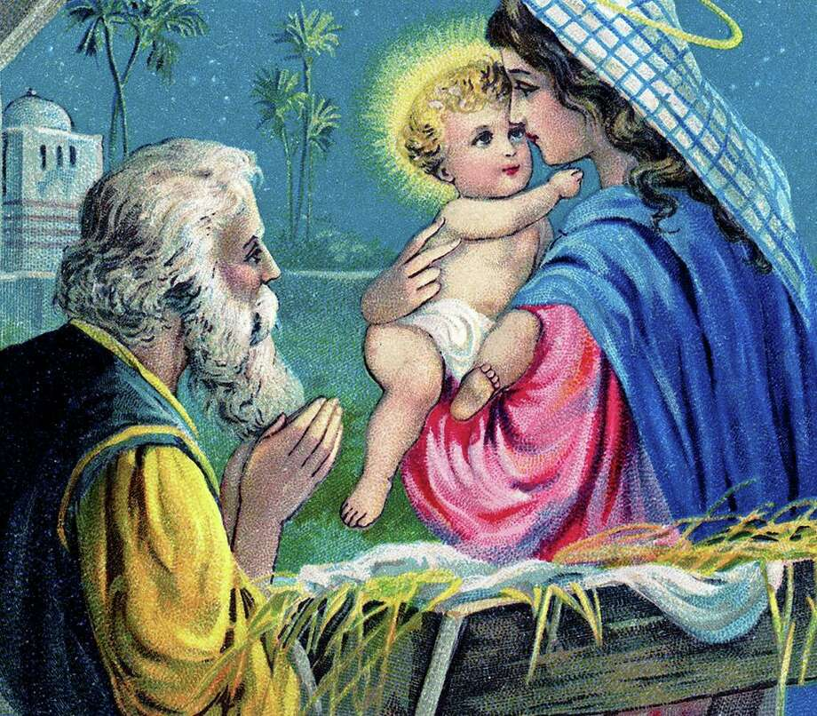 The nativity is a popular holiday scene or motif. Photo: Graphics Fairy