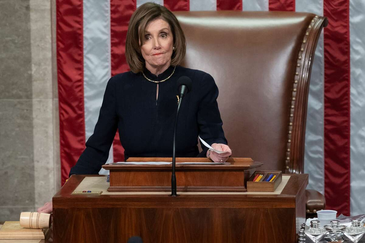 A handful of Democratic representatives who made the mistake of clapping during President Donald Trump's impeachment on Wednesday night were given the death glare of the century by House Speaker Nancy Pelosi.