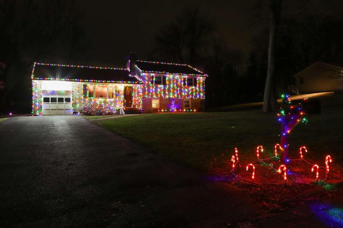 Holiday light displays in Trumbull on December 16 & 18, 2019.
