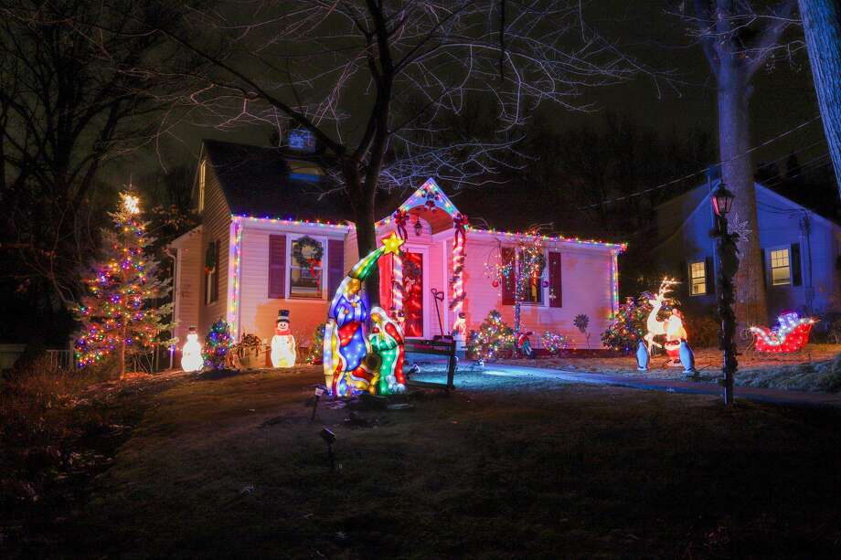 Holiday light displays in Trumbull on December 16 & 18, 2019. Photo: Dawn Kubie