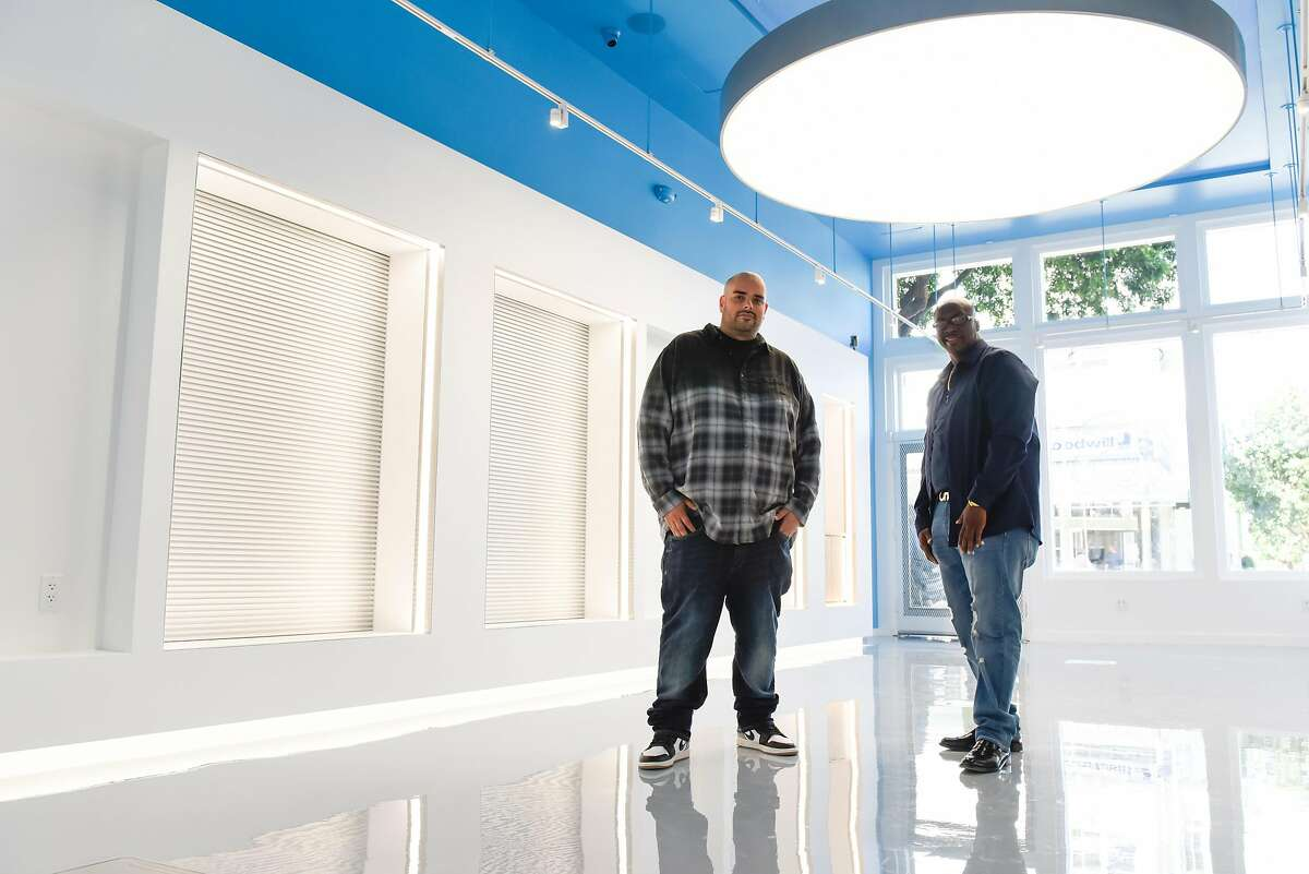 Berner and Shawn Richard at the first cannabis dispensary opens in a neighborhood with a history of black-market sales. Part of the city's cannabis equity program, which is intended to lower barriers for those hardest hit by the war on drugs. on Tuesday, September 10, 2019 in San Francisco, Calif.