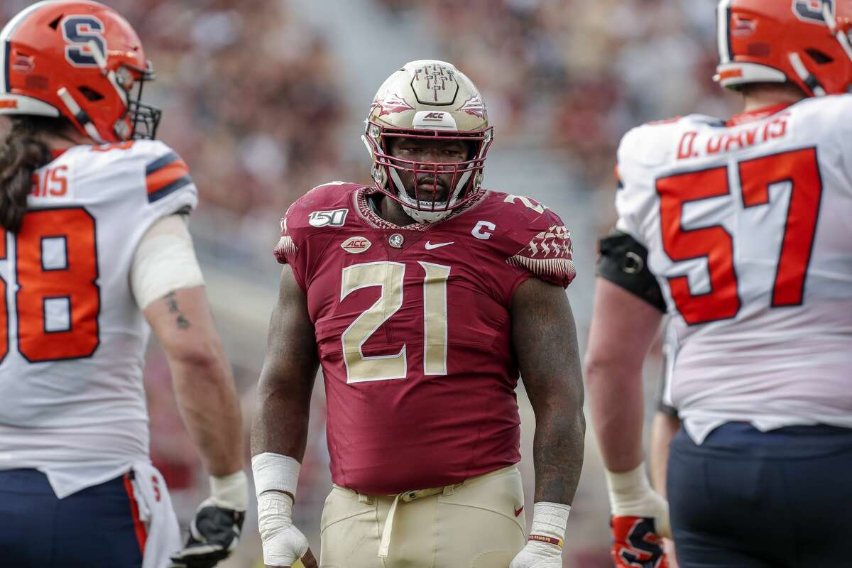 Marvin Wilson, defensive tackle, senior, Florida StateHigh school: EpiscopalHe was having a great campaign before injury in 2019 and Florida State fans rejoiced when he announced he was returning for his senior season. At 6-foot-5 and 310 pounds, Wilson is a manchild at the college level like he was in high school. A productive senior year could garner first-round consideration.