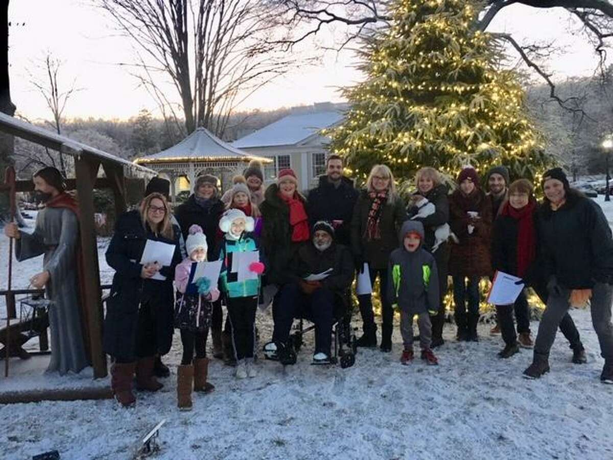 The Wilton Christmas Carolers serenaded the town with seasonal songs on Dec. 18, 2019.
