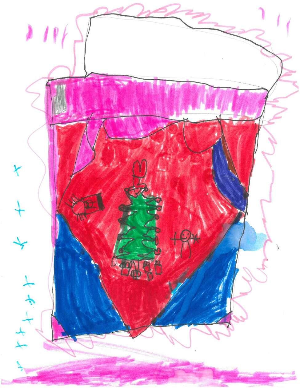 The kindergarten winner for the 2019 Holiday Card Contest, Mya Smith, Rotterdam Academy. (Provided)