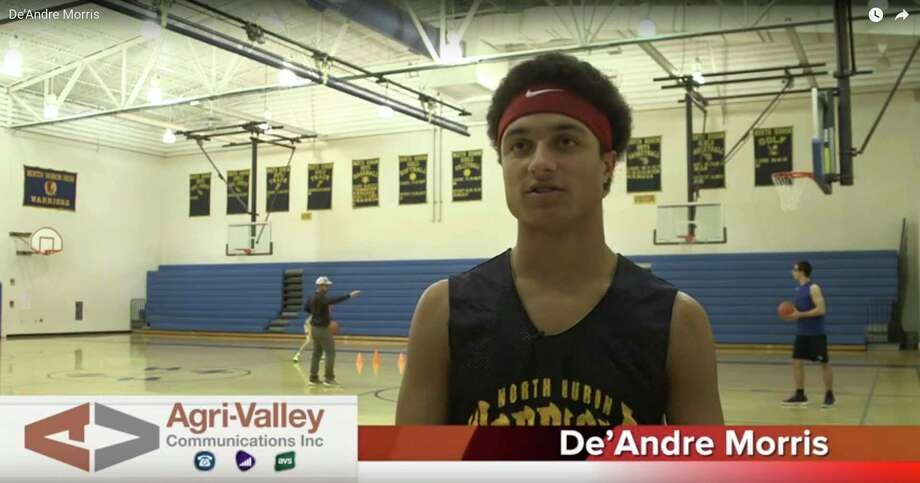 North Huron boys varsity basketball player De'Andre Morris has been named the Agri-Valley Communications Athlete of the Week.