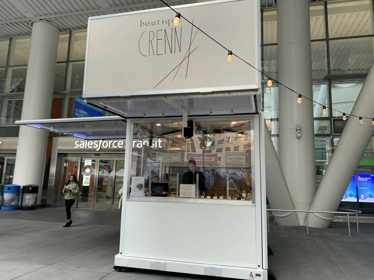 A new pop-up kitchen by the Michelin Star chef Dominique Crenn debuted outside Salesforce Tower.