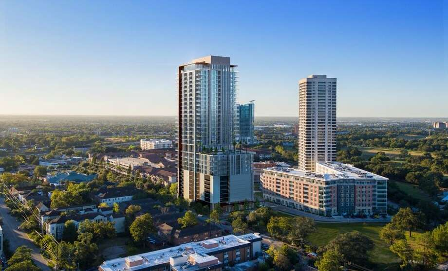 Two Hermann Place will be built near Tema Development's One Hermann Place apartments, completed in 2016, and The Parklane, a 35-story condominium tower completed in 1983. Photo: Bogza Studios